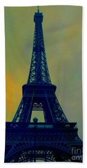 Evening Eiffel Tower Hand Towel