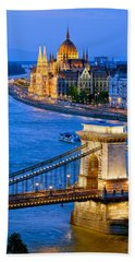 Evening In Budapest Bath Towel