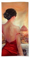 Evening In Florence Bath Towel