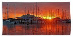 Evening Light Hand Towel by HH Photography of Florida