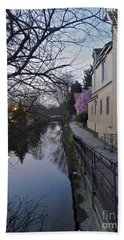 Evening On The Canal Path Bath Towel