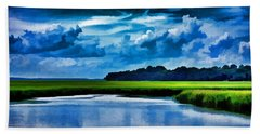 Evening On The Marsh Hand Towel