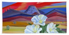 Bath Towel featuring the painting Evening Primrose by Phyllis Kaltenbach