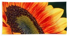 Evening Sun Sunflower Bath Towel by Sharon Talson