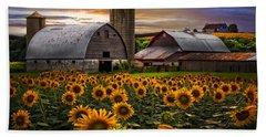Evening Sunflowers Hand Towel