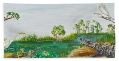 Everglades Critters Hand Towel
