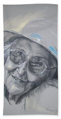 Hand Towel featuring the drawing Everybodys Grandma by Peter Suhocke