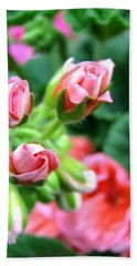 Bath Towel featuring the photograph Everything's Coming Up Geraniums by Brooks Garten Hauschild
