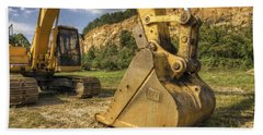 Excavator At Big Rock Quarry - Emerald Park - Arkansas Hand Towel