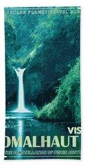 Exoplanet 04 Travel Poster Fomalhaut B Hand Towel