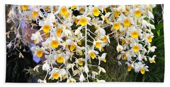 Hand Towel featuring the photograph Exotic Aerides by The Art of Alice Terrill