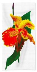 Exotic Flower Hand Towel