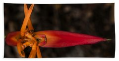 Hand Towel featuring the photograph Exotic Heliconia by Steven Sparks