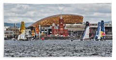 Extreme 40 At Cardiff Bay Bath Towel by Steve Purnell