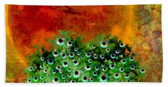 Eye Like Apples Bath Towel by Ally  White