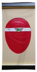 Bath Towel featuring the mixed media Faberge Egg 1 by Ron Davidson