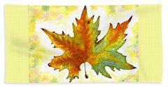 Hand Towel featuring the painting Fabulous Autumn by Leanne Seymour