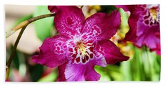 Fabulous Fushia Orchids By Diana Sainz Bath Towel