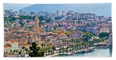 Fabulous Split Waterfront Aerial Panorama Hand Towel
