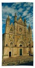 Facade Of A Cathedral, Duomo Di Bath Towel