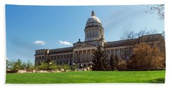 Facade Of State Capitol Building Hand Towel by Panoramic Images