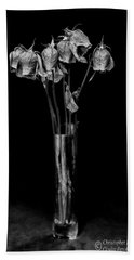 Faded Long Stems - Bw Hand Towel