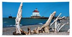 Bath Towel featuring the photograph Fairport Harbor Lighthouse 2 by Michelle Joseph-Long