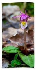 Fairy Slipper Orchid Bath Towel