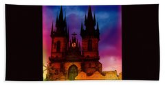 Fairy Tale Castle Prague Bath Towel