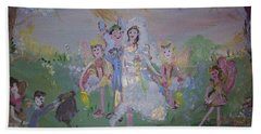 Fairy Wedding Bath Towel by Judith Desrosiers