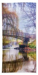 Fairytale Bridge Hand Towel by Mariola Bitner