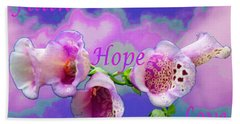 Faith-hope-love Hand Towel by Mike Breau