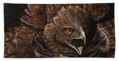 Hand Towel featuring the pastel Falcon Opera  by Peter Suhocke