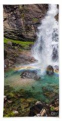 Fall And Rainbow Bath Towel by Silvia Ganora