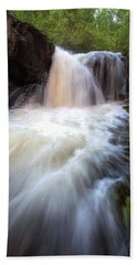Bath Towel featuring the photograph Fall And Splash by David Andersen