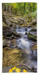 Fall Arrives At Amicalola Falls Bath Towel
