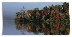 Fall At Heart Pond Bath Towel