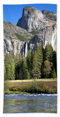Yosemite National Park-sentinel Rock Hand Towel by David Millenheft