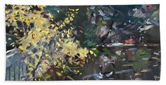 Fall By The Pond Hand Towel