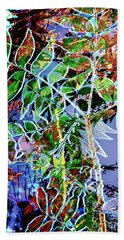 Fall Color Collage Hand Towel