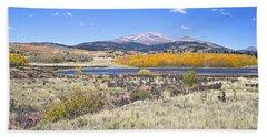 Fall Colors Fairplay Colorado Bath Towel