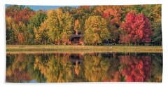 Fall Colors In Cabin Country Bath Towel