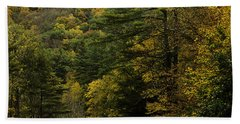 Fall Colors On Mohawk Trail Near Charlemont Hand Towel