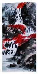 Fall Colors Hand Towel by Yufeng Wang