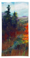 Bath Towel featuring the painting Fall Day by C Sitton
