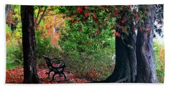 Fall In Henes Park Hand Towel