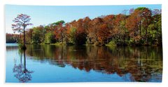 Fall In The Air Hand Towel by Cynthia Guinn