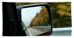 Fall In The Rearview Mirror Bath Towel