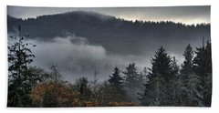Fall Low Clouds And Fog Bath Towel