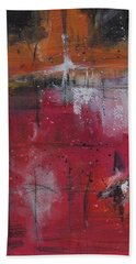 Hand Towel featuring the painting Fall by Nicole Nadeau